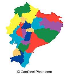 Political map of Ecuador