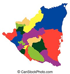 Political map of Nicaragua