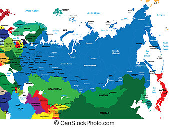 Political map of Russia - Detailed map of Russia. Each file...