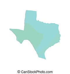 Political map of Texas