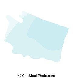 Political map of the State of Washington
