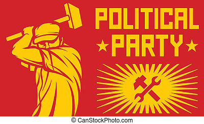 political party poster