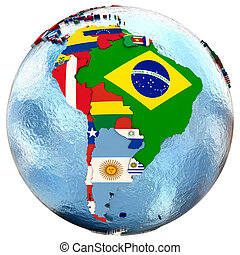 Political south America map - Political map of south America...