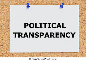 Political Transparency concept