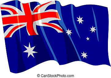 Political waving flag of Australia