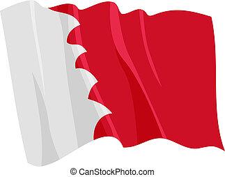 Political waving flag of Bahrain