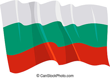 Political waving flag of Bulgaria