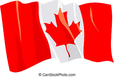 Political waving flag of Canada