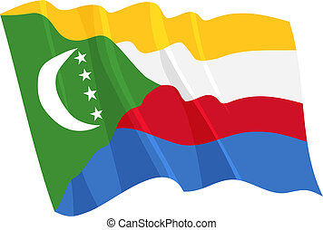Political waving flag of Comoros
