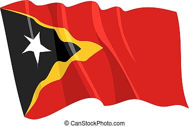Political waving flag of East Timor