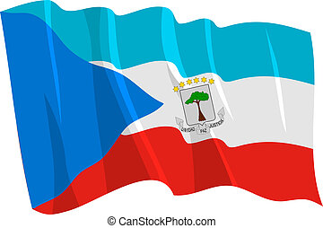 flag of Equatorial Guinea - Political waving flag of...