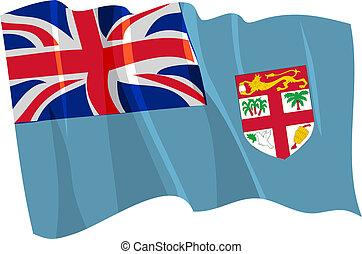 Political waving flag of Fiji