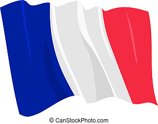 Political waving flag of France