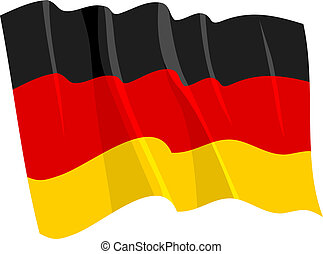 Political waving flag of Germany