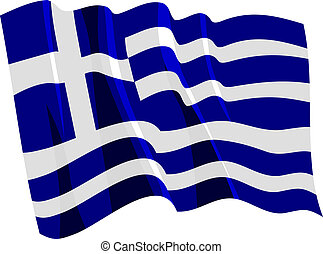 Political waving flag of Greece