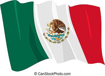 flag of Mexico - Political waving flag of Mexico