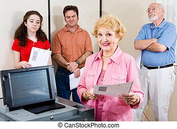 Politically Active Senior - Politically active senior lady...