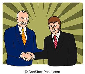 politici, schuddende handen