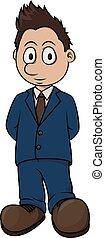 Politician boy cartoon illustration