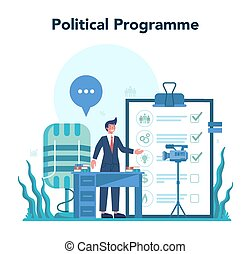 Politician concept. Idea of election and governement. ...