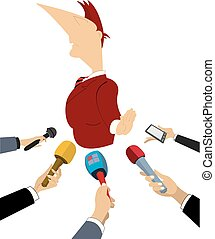 Politician does not want to give the interview to mass media...