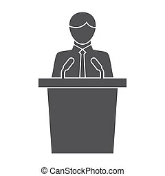 Politician - Political science concept with politician...
