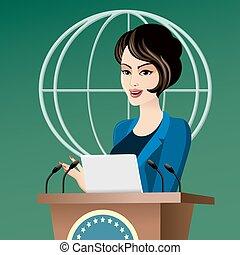 Politician woman