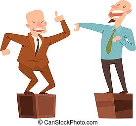 Politicians people vector set. - Orator speaks with broad...