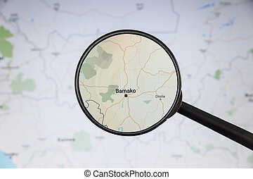 politico, mali., map., bamako