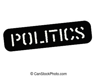 Politics black stamp