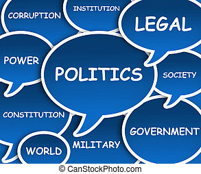 Illustration of clouds about Politics