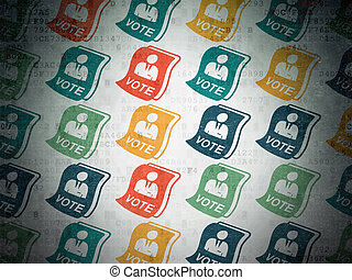 Politics concept: Ballot icons on Digital Paper background