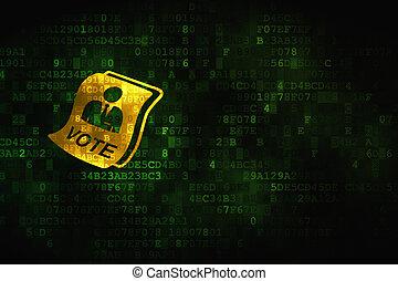 Politics concept: Ballot on digital background