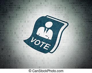 Politics concept: Ballot on Digital Data Paper background