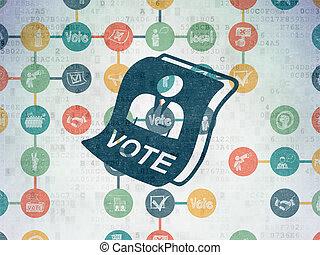 Politics concept: Ballot on Digital Paper background