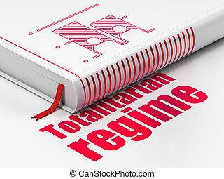 Politics concept: book Election, Totalitarian Regime on...