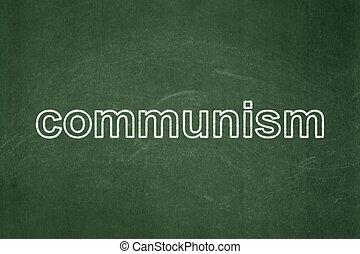 Politics concept: Communism on chalkboard background