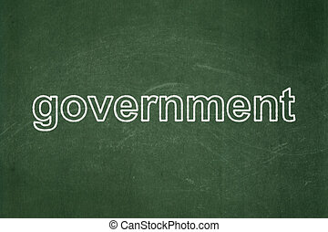 Politics concept: Government on chalkboard background