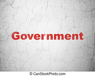 Politics concept: Government on wall background