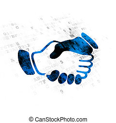 Politics concept: Handshake on Digital background