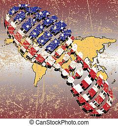 Politics of democracy - Illustration of the enslavement of...