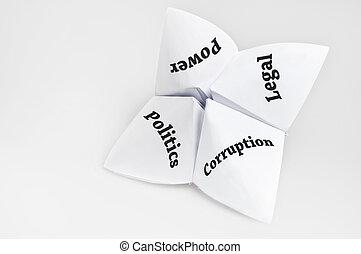 Politics on fortune teller paper