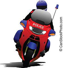 politie, motorfiets, politieagent