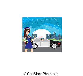 politie, patrouille, nacht