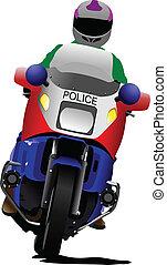 politieagent, motorfiets, politie