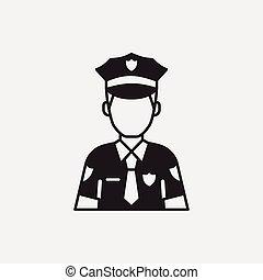 politieagent, pictogram