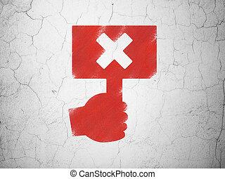 politiek, concept:, protest, op, muur, achtergrond