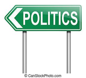politiek, concept.
