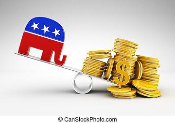 politiek, en, geld