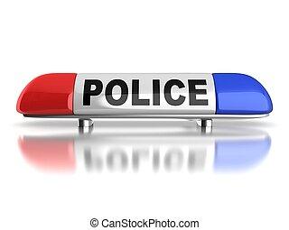 politiewagen, noodgeval, lichten